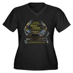 Women's Plus Size V-Neck Dark Space Crabs T-Shirt