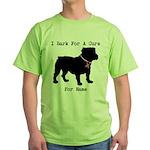 Bulldog Personalizable Bark For A Cure Green T-Shi