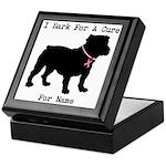 Bulldog Personalizable Bark For A Cure Keepsake Bo
