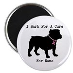 Bulldog Personalizable Bark For A Cure Magnet