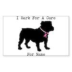 Bulldog Personalizable Bark For A Cure Sticker (Re