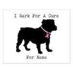 Bulldog Personalizable Bark For A Cure Small Poste