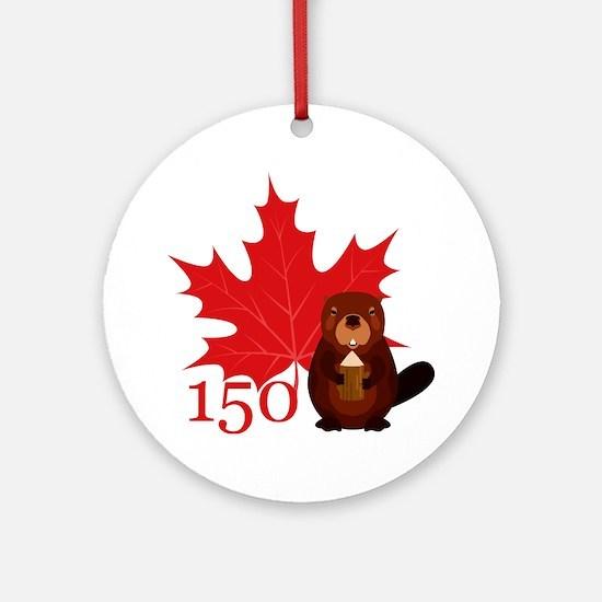 Cute Canadian Round Ornament