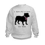 Bulldog Personalizable Bark For A Cure Kids Sweats