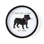Bulldog Personalizable Bark For A Cure Wall Clock