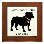 Bulldog Personalizable Bark For A Cure Framed Tile