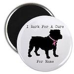 Bulldog Personalizable Bark For A Cure 2.25