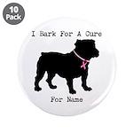 Bulldog Personalizable Bark For A Cure 3.5