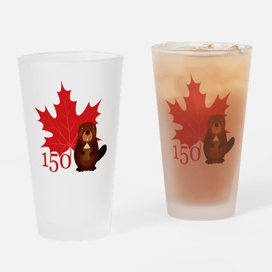 Cute Canadian Drinking Glass