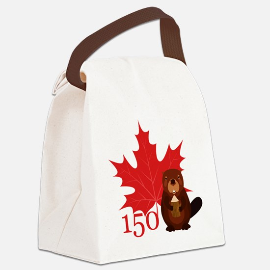 Funny Canadian Canvas Lunch Bag