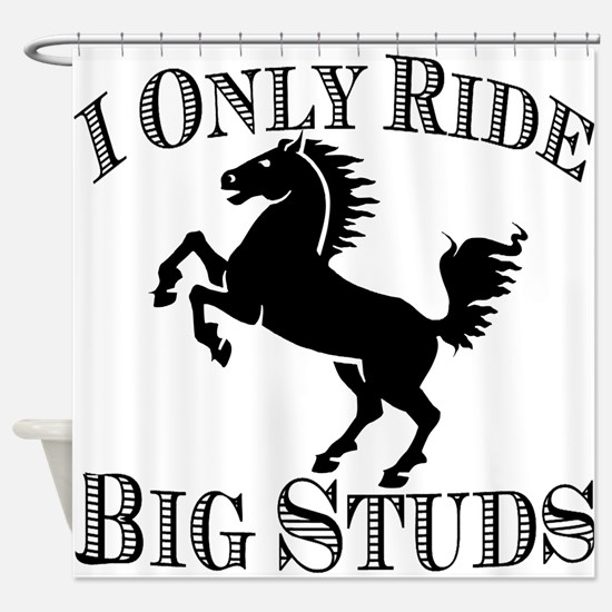 Big Studs - Rearing #2 - Black Shower Curtain