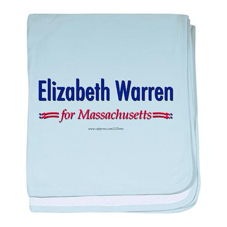 """""""Elizabeth Warren for MA"""" baby blanket"""
