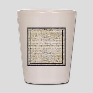 Musical Score Shot Glass