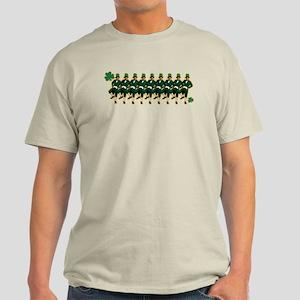 Leprechaun Chorus Line Light T-Shirt