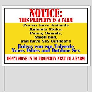 Farm Notice 2 Yard Sign