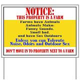 Funny farm Yard Signs