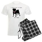 Pug Personalizable Bark For A Men's Light Pajamas