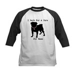 Pug Personalizable Bark For A Kids Baseball Jersey