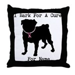 Pug Personalizable Bark For A Throw Pillow