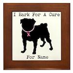 Pug Personalizable Bark For A Framed Tile