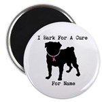 Pug Personalizable Bark For A Magnet