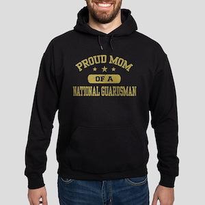 Proud Mom of a National Guardsman Hoodie (dark)
