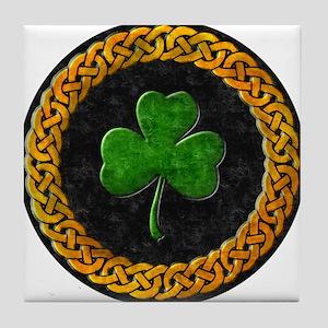 Celtic Shamrock Irish Tile Coaster