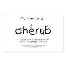 Mommy to a Cherub Sticker (Rectangle)