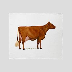 Shorthorn Cow Throw Blanket