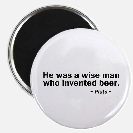 Wise man invented beer Magnet