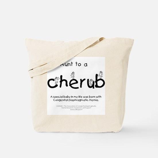 Aunt to a Cherub Tote Bag