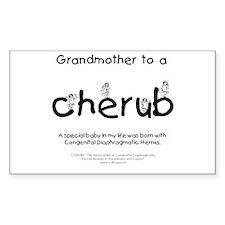 Grandmother to a Cherub Sticker (Rectangle)