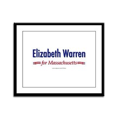 """Elizabeth Warren for MA"" Framed Panel P"