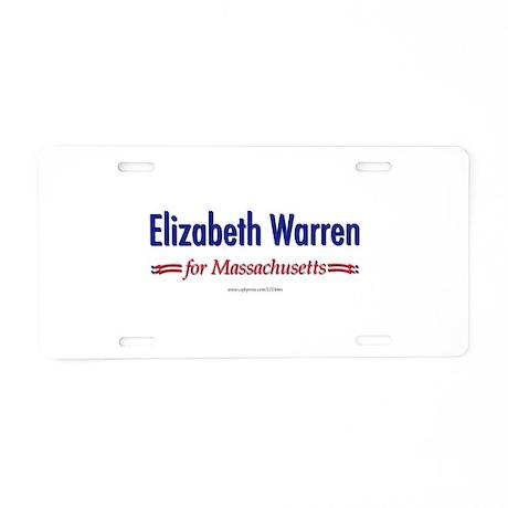 """Elizabeth Warren for MA"" Aluminum License Plate"
