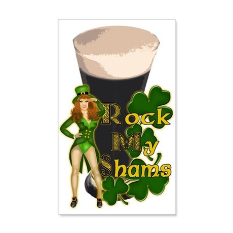 Rock My Shams Irish Pinup Stout 22x14 Wall Peel