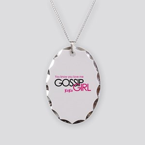 Gossip Girl Necklace Oval Charm