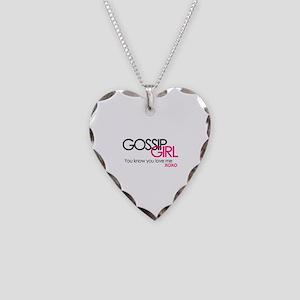 Gossip Girl Necklace Heart Charm