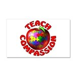 Teach Compassion Car Magnet 20 x 12
