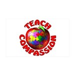 Teach Compassion 38.5 x 24.5 Wall Peel