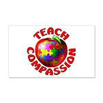 Teach Compassion 22x14 Wall Peel