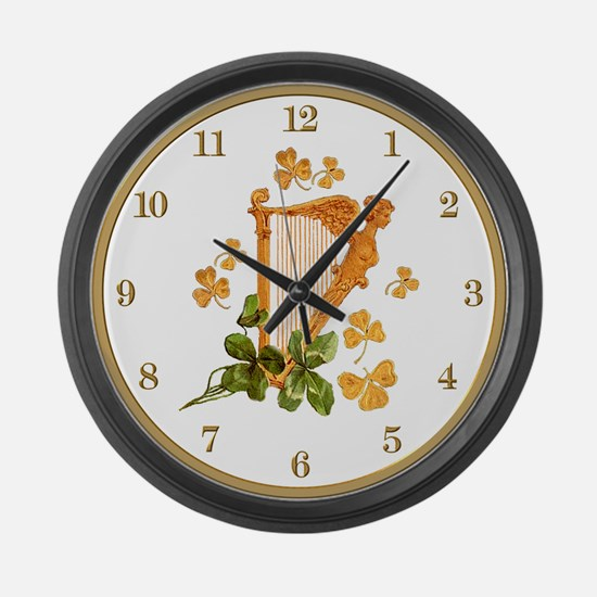 Erin Go Bragh Large Wall Clock