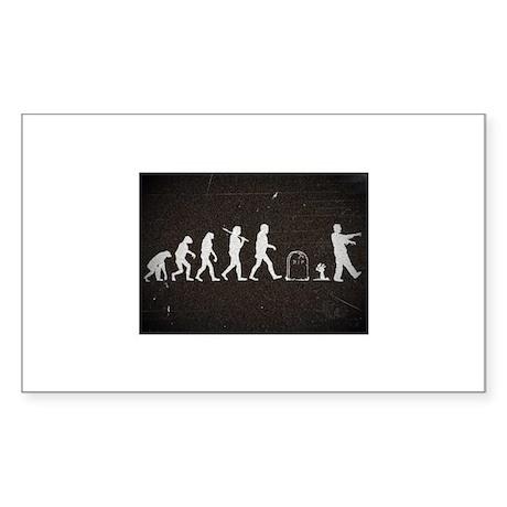 """Zombie Evolution"" Sticker (Rectangle)"