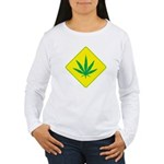 Weed Crossing Women's Long Sleeve T-Shirt