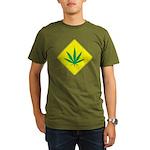 Weed Crossing Organic Men's T-Shirt (dark)