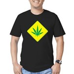 Weed Crossing Men's Fitted T-Shirt (dark)