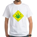 Weed Crossing White T-Shirt