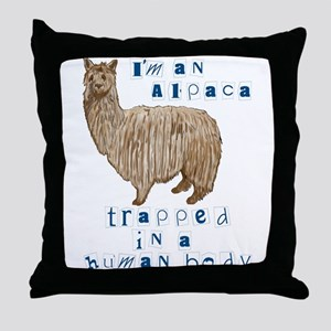 I'm an Alpaca Throw Pillow