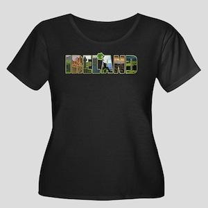 Ireland Women's Plus Scoop Neck Dark T-Shirt