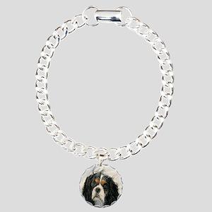 King Charles Cavalier Spaniel Charm Bracelet, One