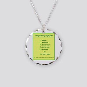 Transfer Day Checklist Necklace Circle Charm